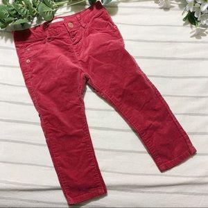 🧸5 FOR $20🧸ZARA BABYGIRL Corduroy Pants - 12/18